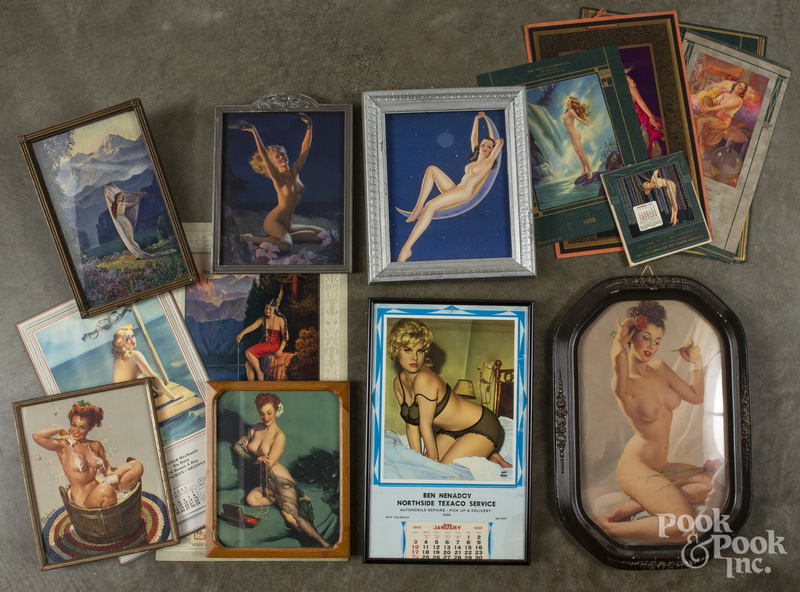 Group of pin-up art and calendars