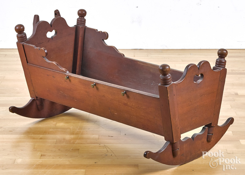 Pennsylvania red stained cherry cradle