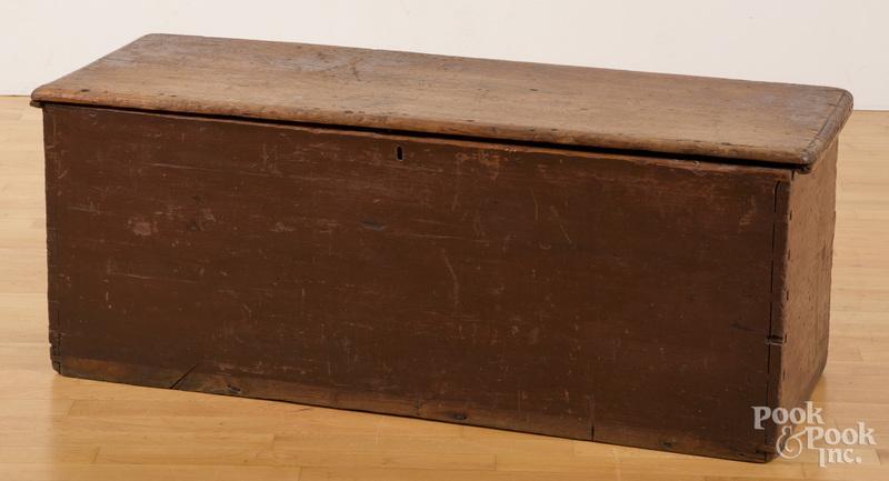 Painted poplar blanket chest