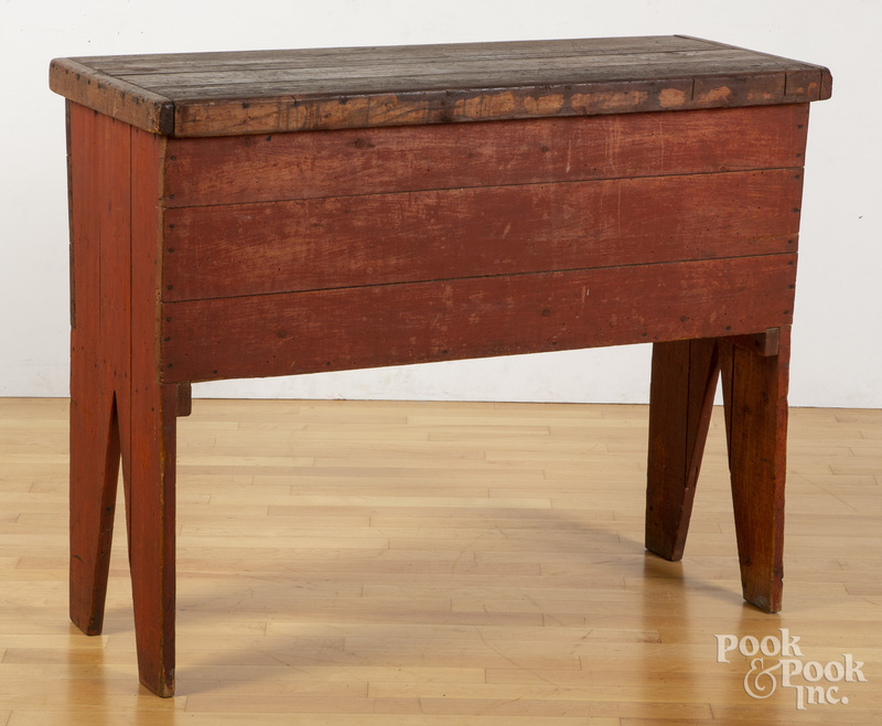 Painted pine doughbox table