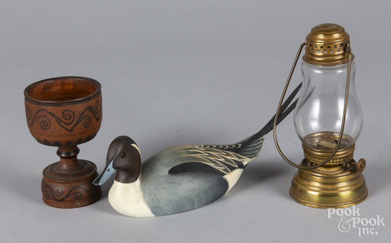 Turned and painted egg cup