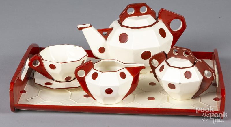 Art Deco pottery tea service