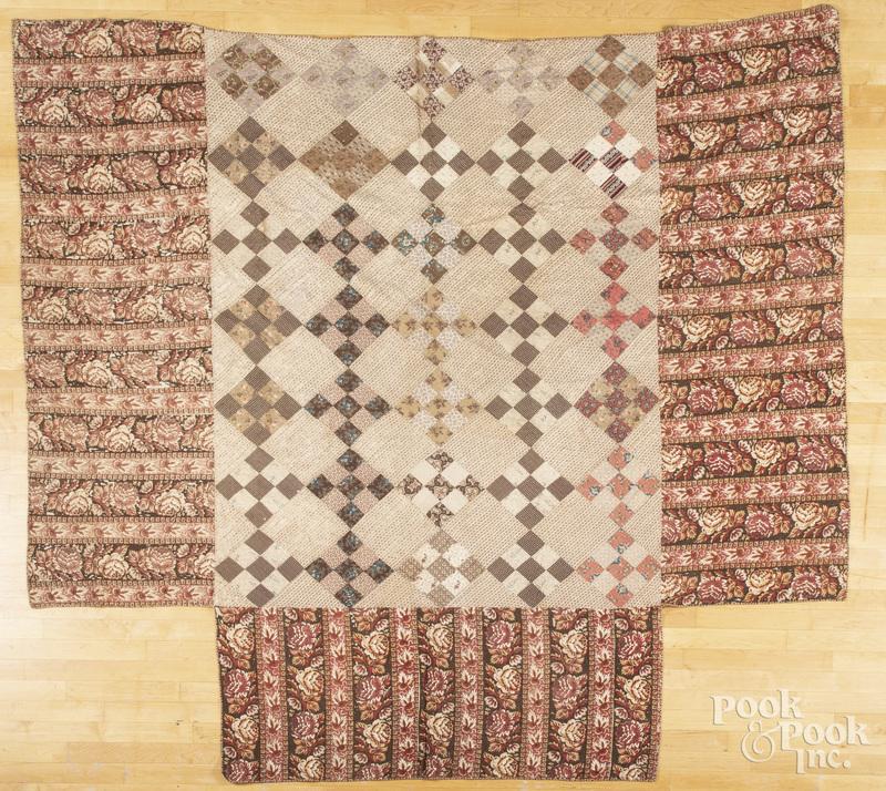 Nine patch bedspread