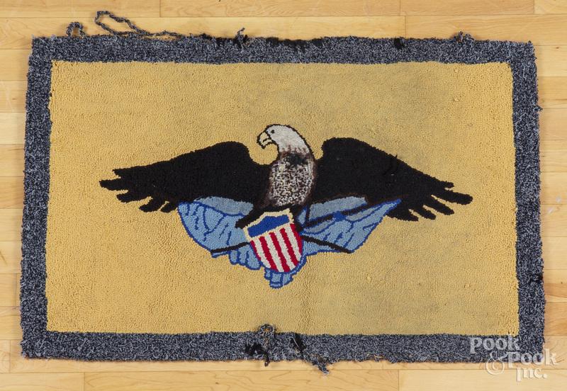 American eagle hooked rug