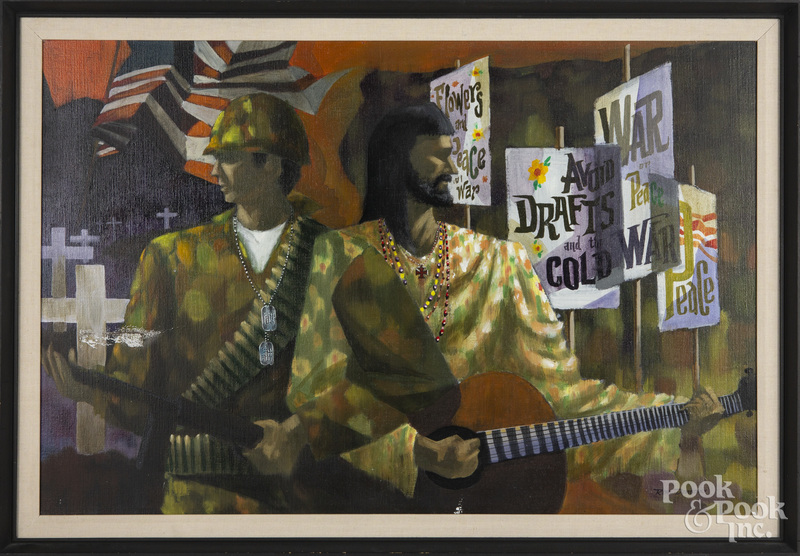 Ron Dembosky, oil on canvas Vietnam War Protest