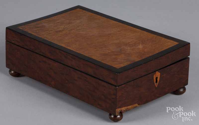 Curly maple and rosewood dresser box