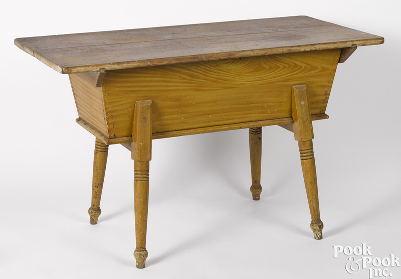 Pennsylvania painted pine dough box table