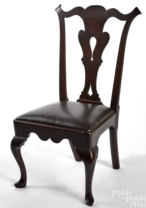 Delaware Valley Queen Anne cherry dining chair