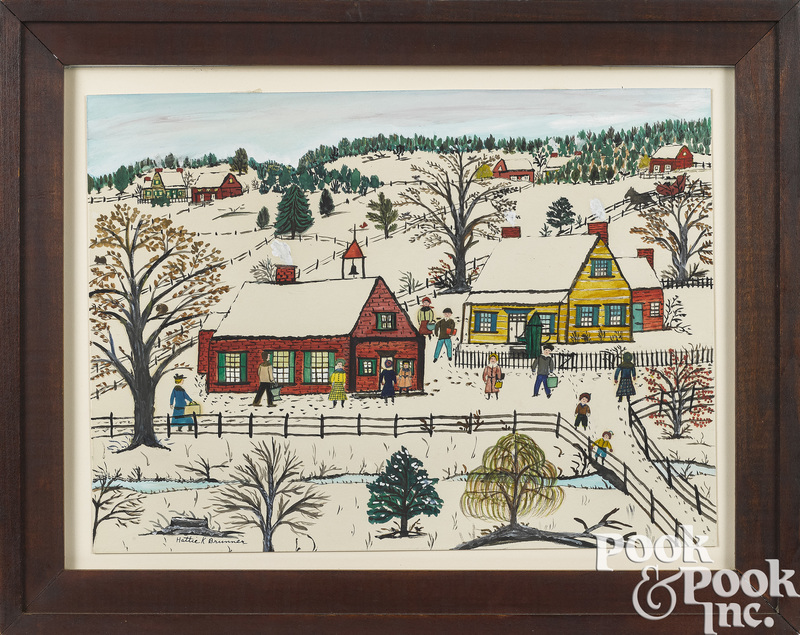 Hattie Klapp Brunner winter town scene