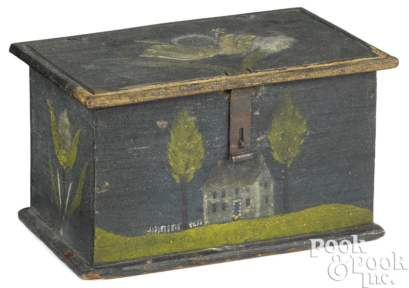 Jonas or Jacob Weber painted pine dresser box