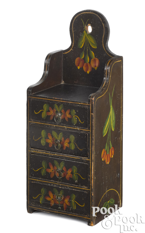 Pennsylvania painted pine wall box