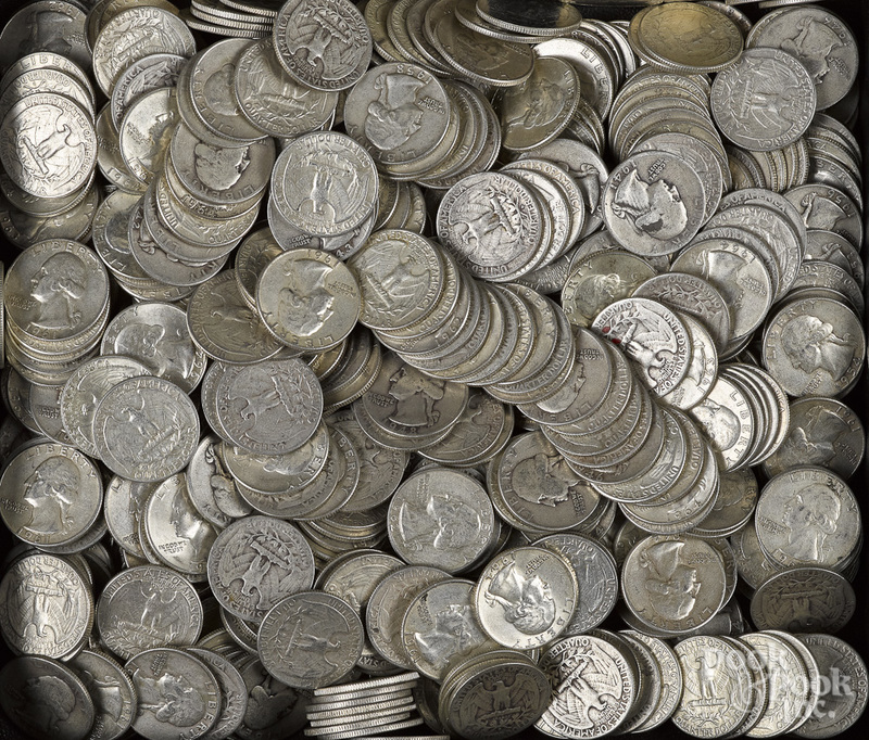 US silver quarters, 100 ozt.