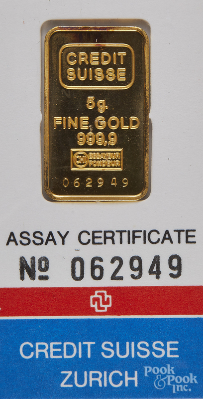 5g fine gold ingot.