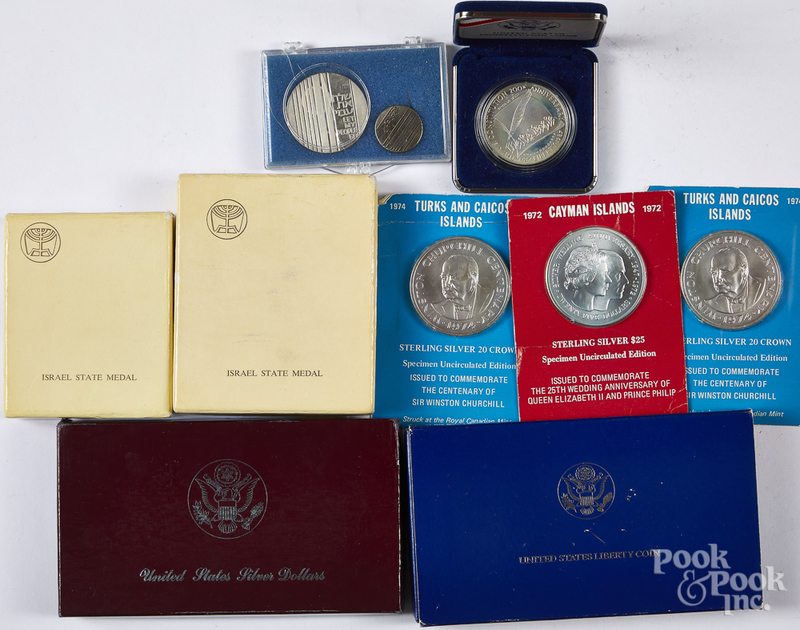 US Constitution silver coin, etc.