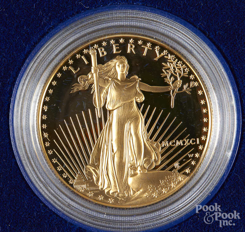 American Eagle 1 ozt. proof gold bullion coin.