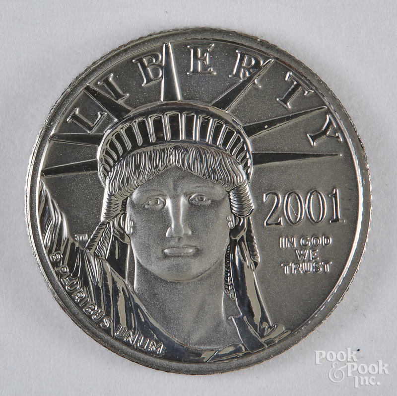 Liberty eagle 1/10 ozt. platinum coin.