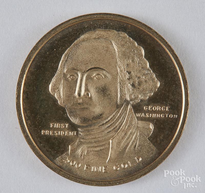 Washington Bicentennial .500 fine gold coin.