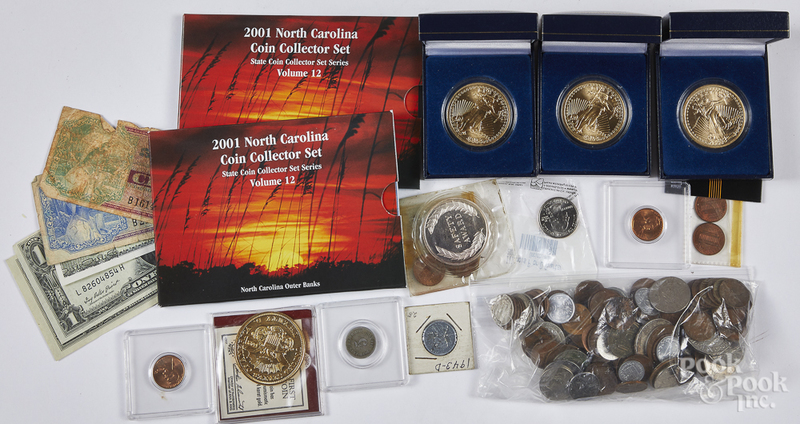 Miscellaneous coins and currency, etc.