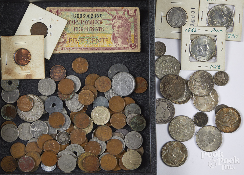 Miscellaneous US and foreign coins, etc