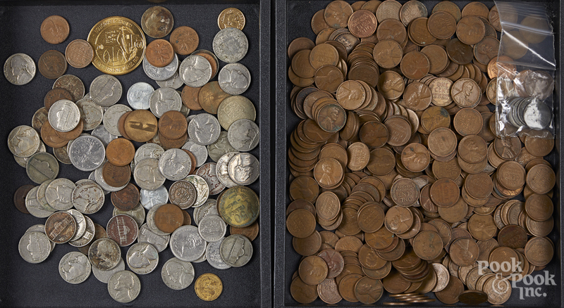 US and foreign coins.