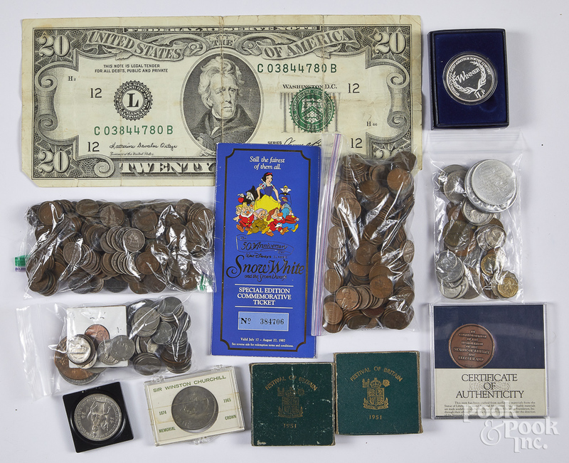 US and foreign coins, etc.
