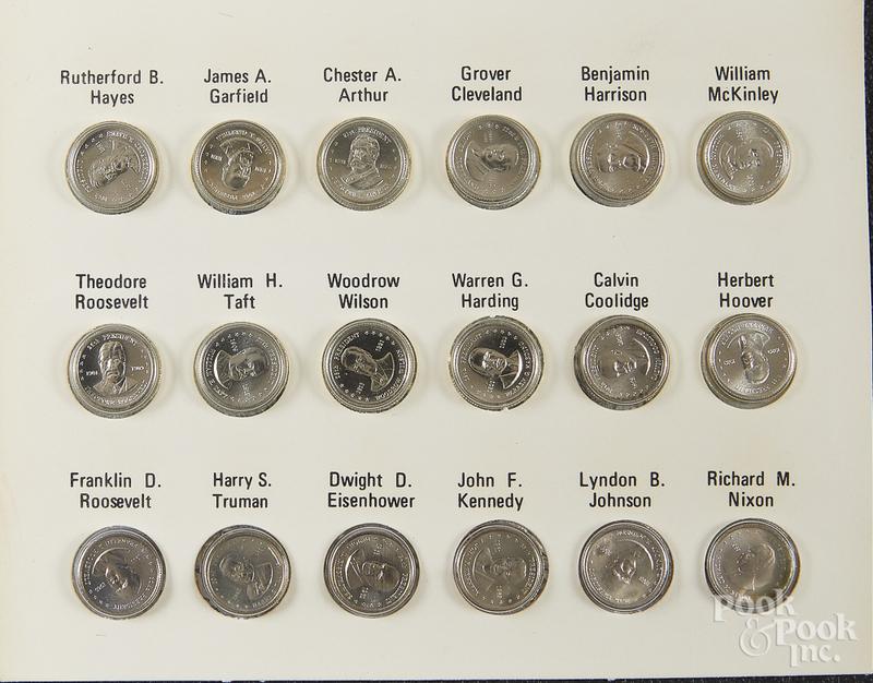 Franklin Mint Presidential mini coin set.