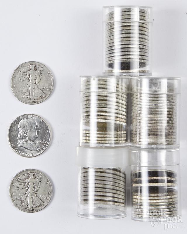 US silver half dollars, etc.