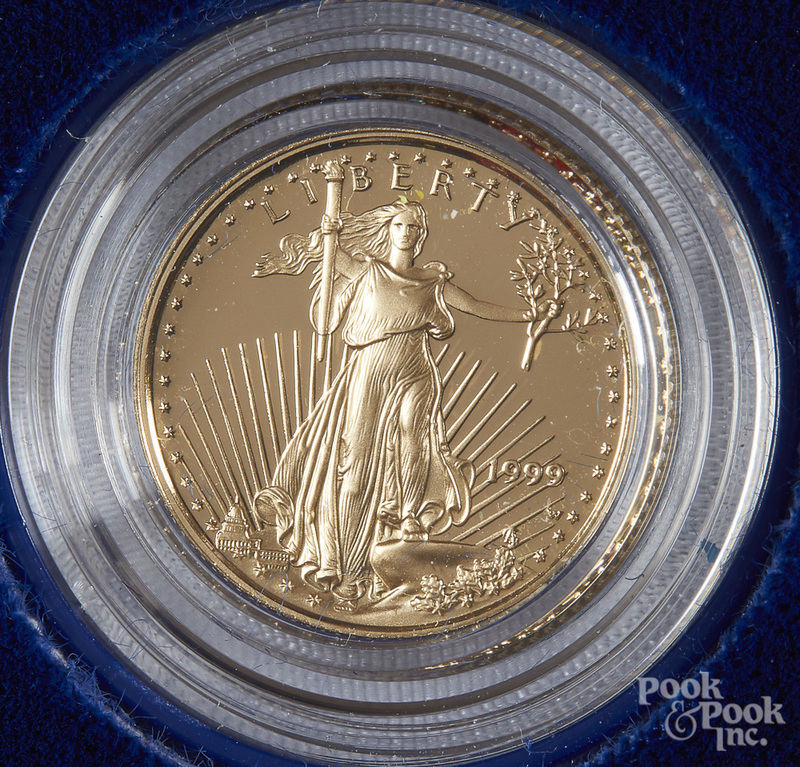 Liberty Eagle 1/10 ozt. gold coin.