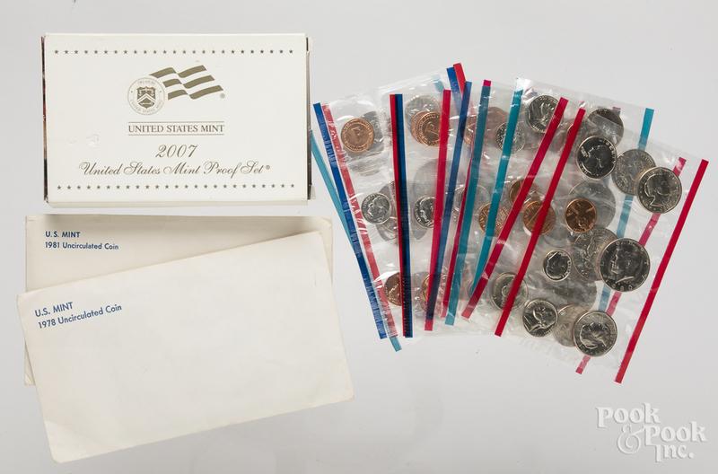 US D and P mint sets 1978, etc.