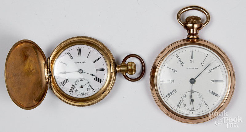 Waltham gold filled pocket watch, etc.