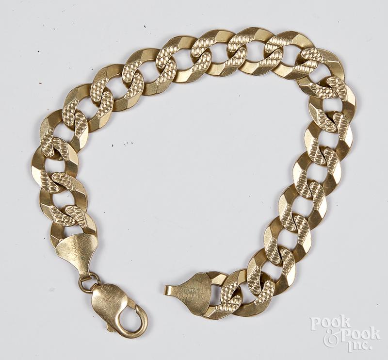 14K gold bracelet, 25.6 dwt.