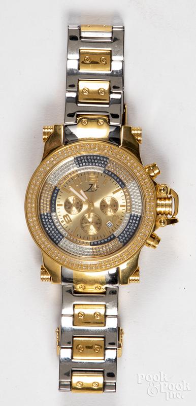 Ice wristwatch with diamond bezel.