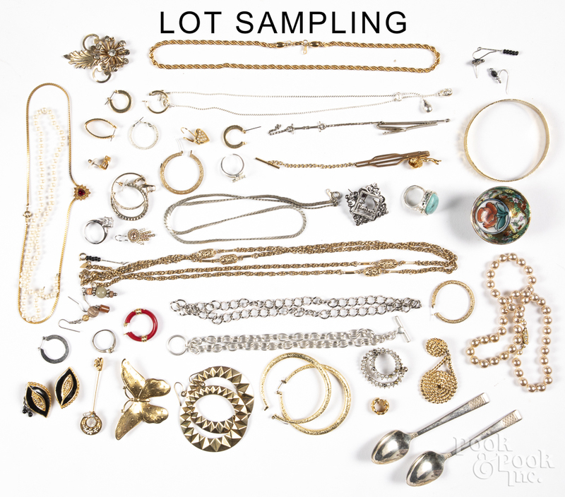 Group of costume jewelry.
