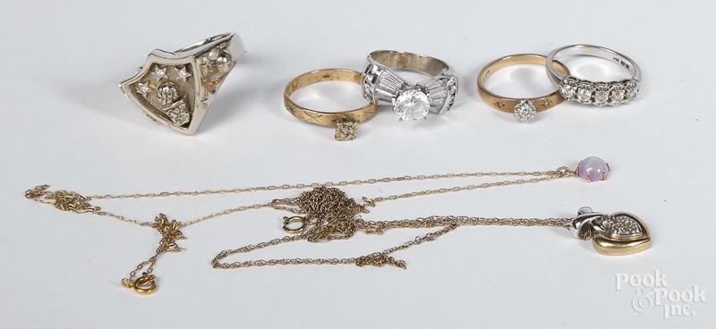14K gold gemstone jewelry, etc.
