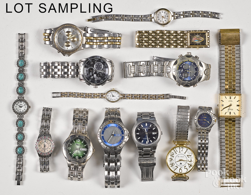 Group of wristwatches.