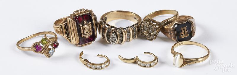 10K gold gemstone jewelry