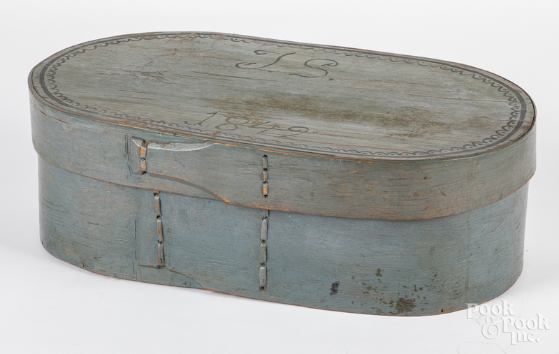 Two Scandinavian painted brides boxes