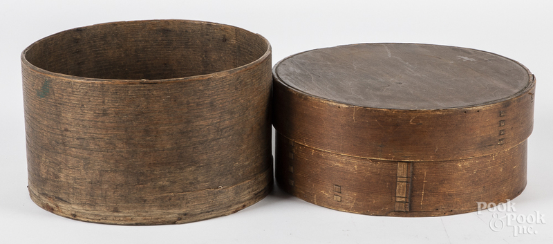 Two bentwood pantry boxes