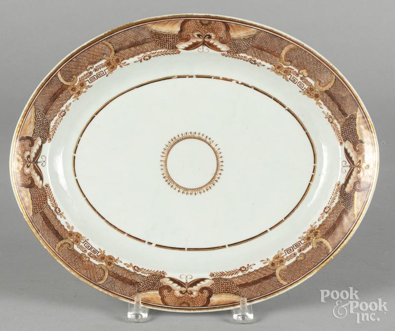 Chinese export porcelain platter