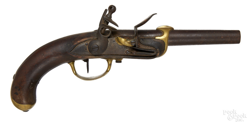 French flintlock Naval pistol