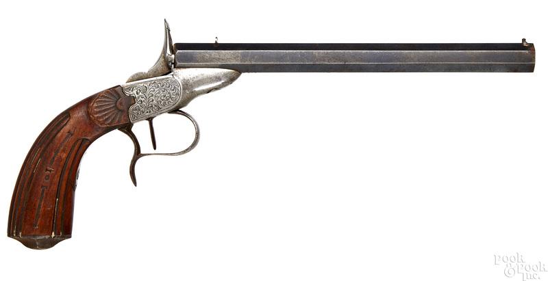 Belgian Flobert breech load parlor pistol