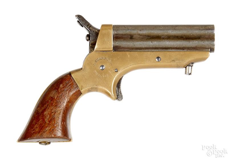 Sharp's four barrel pepperbox pistol