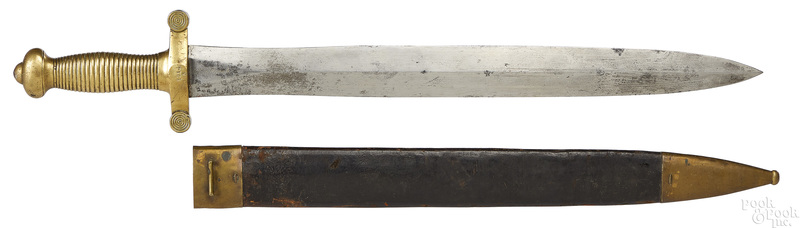 French artillery short sword and scabbard