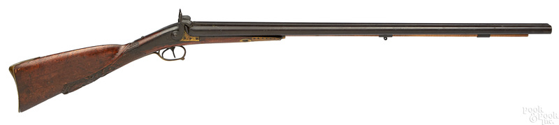 Percussion double barrel side by side shotgun