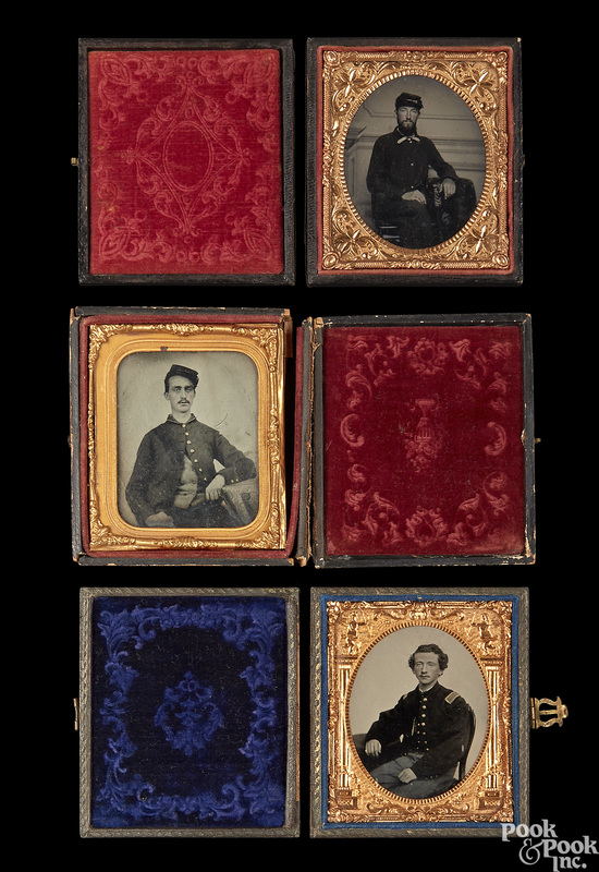 Civil War ambrotype and tintype soldiers
