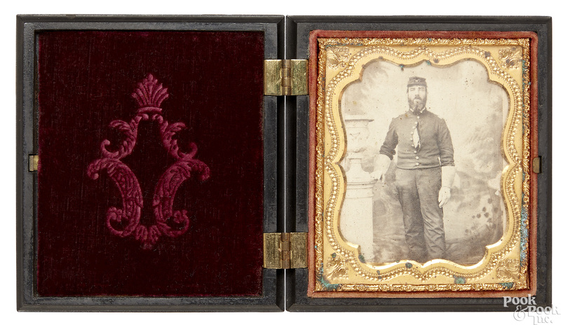 Civil war tintype of a cavalry officer
