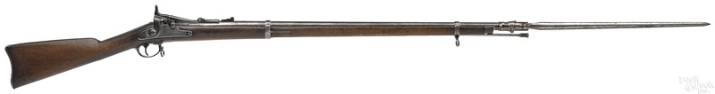 US Springfield model 1868 rifle with bayonet