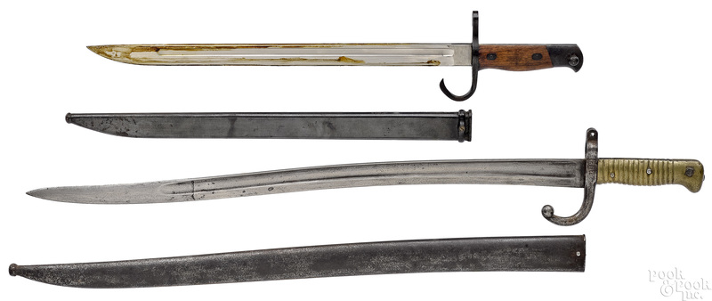 Two bayonets with scabbards