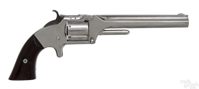 Smith & Wesson Old Army nickel plated revolver