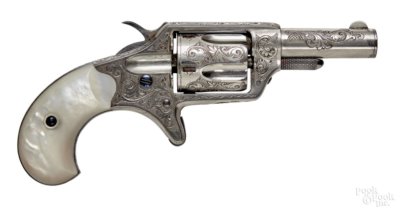 Colt New Line single action nickel plated revolver